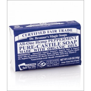 Dr Bronner's Peppermint Organic Bar Soap 140g