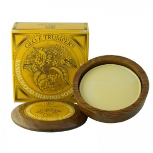 Sandalwood Hard Shaving Soap & Bowl