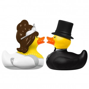 Bride & Groom Mini Ducks
