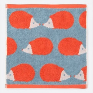 Kissing Hedgehogs Face Towel Stone Blue